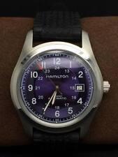 Hamilton Khaki Field Purple Dial Automatic Men Military Watch 25 Jewel Serviced.