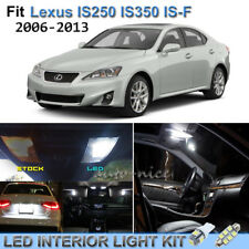 10pcs White Interior LED Lights Package Kit For 2006-2013 Lexus IS250 IS350 IS-F