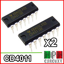 2x CD4011 BE Integrato Porte NAND CMOS