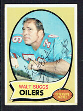 Walt Suggs #204 signed autograph auto 1970 Toops Football Trading Card