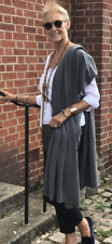 CASHMERE CHARCOAL GREY  SCARF Shawl Wrap Handmade Natural Cashmere