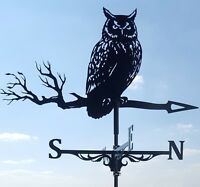 Owl Metal Weathervane with roof mount FREE SHIPPING
