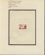 ST. PIERRE & MIQUELON #333P DIE PROOF ON PRESENTATION PAGE HV9159