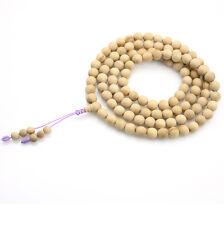 8mm Sandalwood Santalum Album Tibet Buddhist 108 Prayer Beads Mala Necklace
