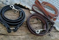 2.5cm Leather dog leash , leather dog lead,1.2m,1.5m, solid brass/nickel clips