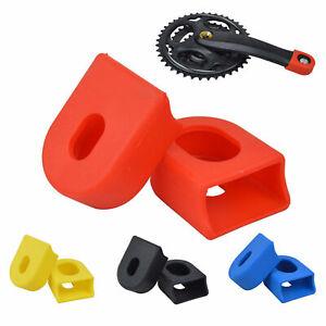 Bicycle Crank Protector Mountain Bike Bike Silicone Crank Boots Bicycle Crank Arm Boots Protective Gear Universal