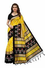 Indian Women's Designer Mysore Silk Saree with Blouse Piece, Free Shipping