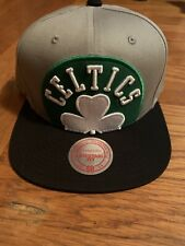Boston Celtics Mitchell & Ness Gray Cropped Split Heather Snapback Hat Cap NEW