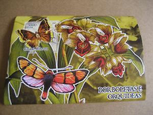 GUIN'E-BISSAU 2005 BUTTERFLIES & ORCHIDS SOUVENIR SHEET