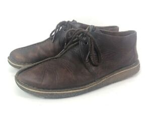 Clarks Desert Trek 10.5 Mens Beeswax Ankle Shoes Boots Crepe Sole Worn In Comfy