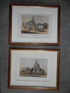 Burma, Court of Ava, Dragon Temple, White Elephant.Pr Lithos Henry Yule c1850