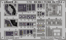 Eduard PE 73584 1/72 Dornier Do-17Z-2 Interior ICM
