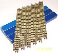 1x BOX OF 6x HORNBY DUBLO (3701) 32200 EDB1 STRAIGHT 3 RAIL TINPLATE 'OO' TRACK.