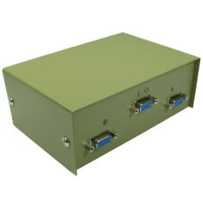 More details for 2 way port d9 serial switch box - for pc computer screen monitor sharing - beige