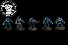 Warhammer 30K Space Marine Ultramarine Terminator Squad, 5 PRO PAINT miniatures