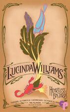 Lucinda Williams Poster Fillmore October 24-25 2006