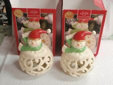 """Lenox Merry And Bright Snowman Figurine 7"""" American By Design 853775 No Lite"""