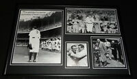 Babe Ruth 1947 Final Speech at Yankee Stadium Framed 12x18 Photo Display