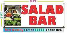 Full Color SALAD BAR Banner Sign NEW Larger Size Best Quality for the $$$