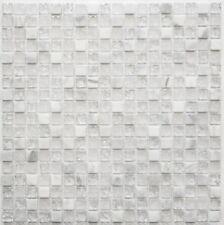 Mosaïque carreau translucide verre pierre blanc cuisine mur 92-0102_f |10plaques