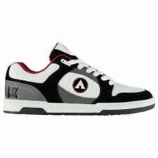 NEW Airwalk Mens Throttle Shoes Laced Skate Sports Trainers 7-13 BLACK/WHITE/RED