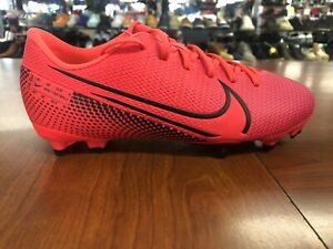 NIKE MERCURIAL VAPOR XIII FG MG SOCCER CLEATS SHOES RED AT8123-606 YOUTH 4.5