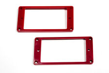 Marcos para pastillas humbucker planos rojos - Red Flat Mounting Rings Set