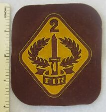 2 FIR - Non U.S.MILITARY 2nd INFANTRY PATCH (Yellow on Brown)