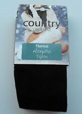 "Silky Country Libertine THERMAL Acrylic TIGHTS BLACK Size LARGE 42""- 48"""
