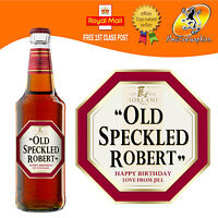 PERSONALISED FUNNY SPOOF BEER STRONG ALE BOTTLE LABEL BIRTHDAY ANY OCCASION GIFT