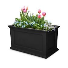 Mayne Plastic Planter Indoor Outdoor Flower Garden Plant Home 36 x 20 inch Black