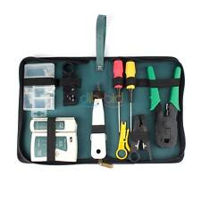 Internet Network Cable Tester Wire Crimp LAN RJ45 RJ11 CAT5 Analyzer Tool Kit BD