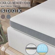 """Genniyz 3"""" 4"""" Memory Foam Mattress Topper Knit Cover Underlay Mat Queen King Us"""