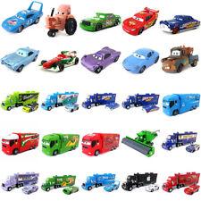 Disney Pixar Cars McQueen Racers & Mack Truck Set 1:55 Diecast Toy Loose New