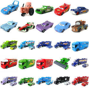 Disney Pixar Cars McQueen Racers & Mack Truck Set 1:55 Diecast Toy Loose New