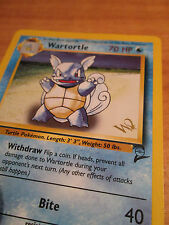PL Gold W Stamped Pokemon WARTORTLE Card BASE-2 Set PROMO 63/130 Wizards Coast