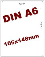 A6 Paketschein Versandetiketten Label Selbstklebend Etiketten DHL DPD Hermes Neu