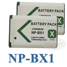 2pk NP-BX1 Battery For Sony HDR-AS15 AS10 HX300 WX300 RX100 RX1 Camera 1240mAh