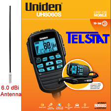 UNIDEN UH8060S UNIDEN UHF CB RADIO + 6.0 dBi Black ANTENNA Remote Speaker Mike