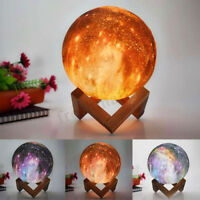 3D LED Starry Sky Night Light Moon Lamp Moonlight Table Desk Home Decor Gifts