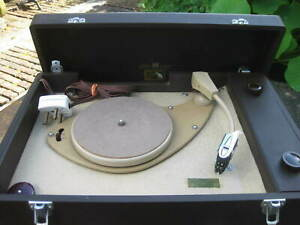 Vintage HMV Portable Electric Record Player ~ Model 2001 ~ For Spares or Repair