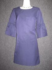 FRENCH CONNECTION Purple Cotton Blend 3/4 Sleeve Sheath DRESS SZ 4 NEW