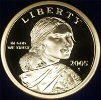 2005 S Proof Sacagawea Native American Dollar $, US Coin , Gem Deep Cameo!