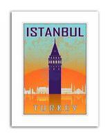 ISTANBUL TURKEY GALATA TOWER BYZANTINE VECTOR Travel Canvas art Prints