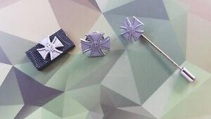 Veteranenabzeichen Set Bandspange Pin Nadel Ordensspange Bandschnalle