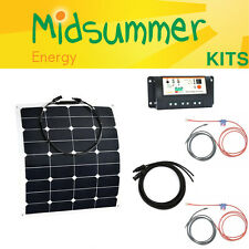 55W 12V Semi-Flexible Dual Control Solar Kit - caravans, yachts, pop-tops, RVs