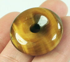 36.9Ct Natural African Blue Yellow Tigereye Pendant PHY8