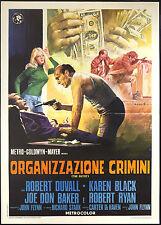 CINEMA-manifesto ORGANIZZAZIONE CRIMINI duvall, black, baker, FLYNN