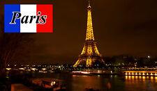 PARIS AT NIGHT - SOUVENIR NOVELTY FRIDGE MAGNET - NEW / FLAG / SIGHTS / GIFTS