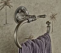 Bathroom Antique Bronze Towel Ring Wall Mounted Towel Rack Rail Bar Holder Hook